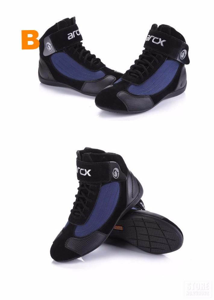 Motorcycle Riding Breathable Boots with Moto Protection