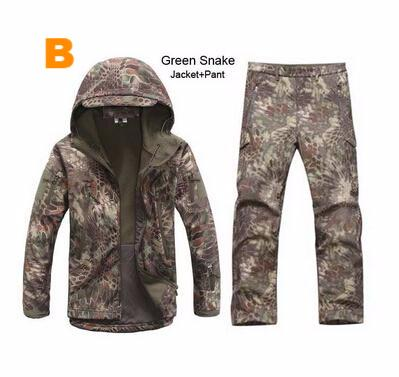 Camouflage Gear Outdoor Waterproof Jacket + Pants