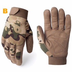 Tactical Anti-skid Camo Full Finger Gloves
