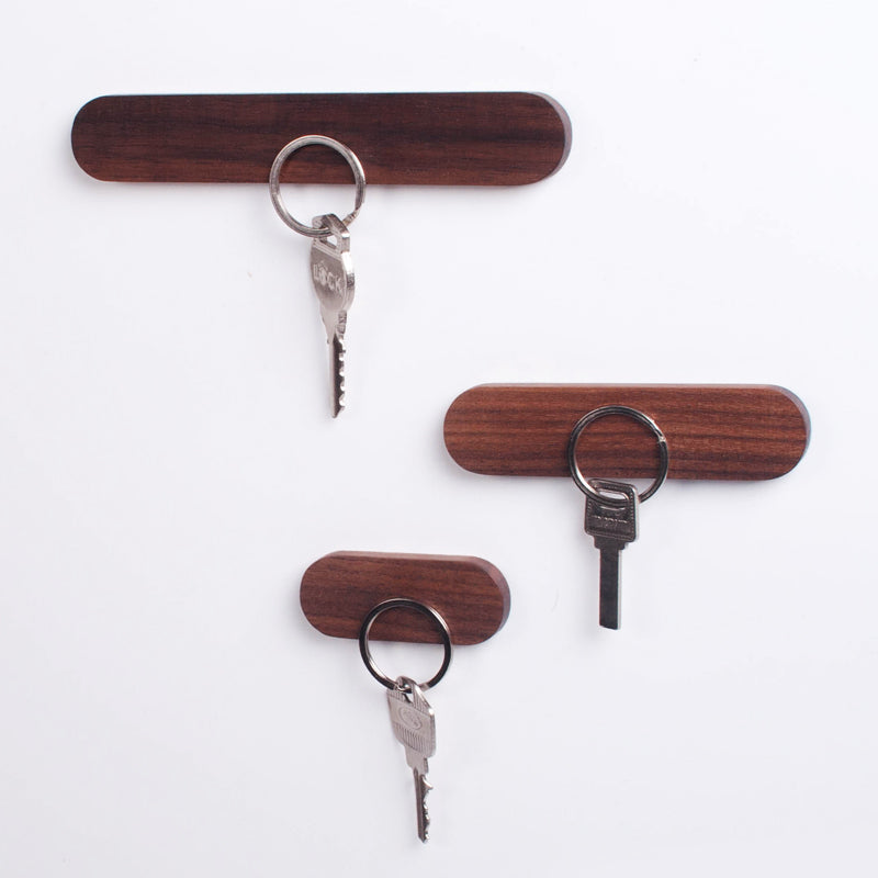 Magnetic Multi-function Wooden Suction Key Chain Storage Device for Walls
