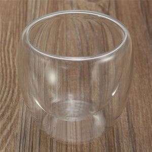 Clear Double Wall Heat Resistant Glass Coffee & Tea Cups