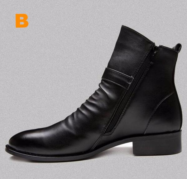 Genuine Leather British Style Retro Boots