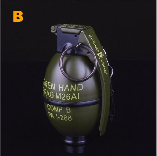 Metal Windproof Military Grenade Gas Lighter (big size)