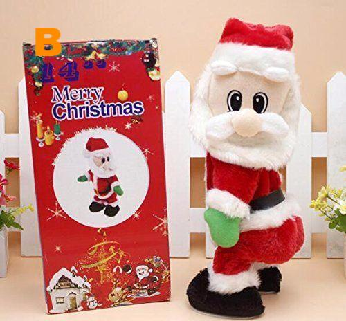 Cute Dancing  Christmas electric toy Santa Claus with Sound
