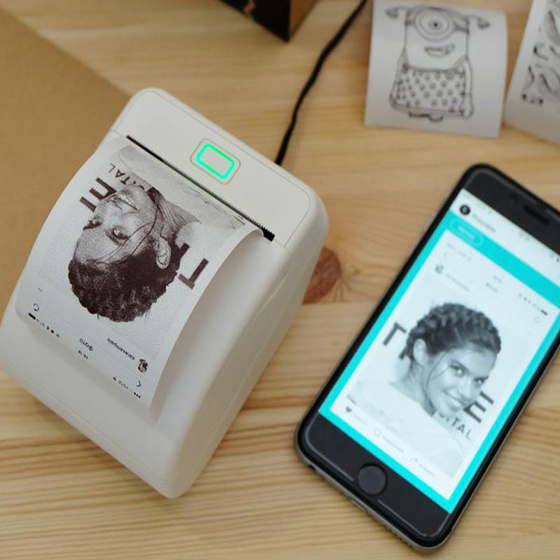 Thermal Barcode WiFi Wireless Remote Phone Photo Printer