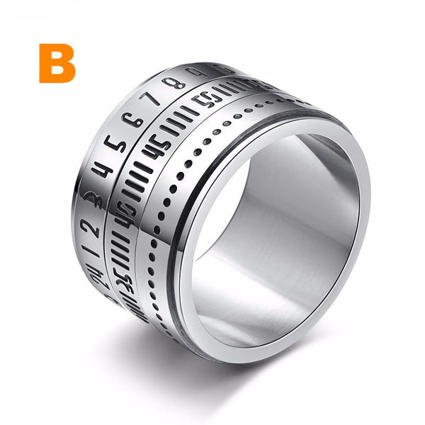 Camera Lens Rings with Arabic Numerals in Black Letters
