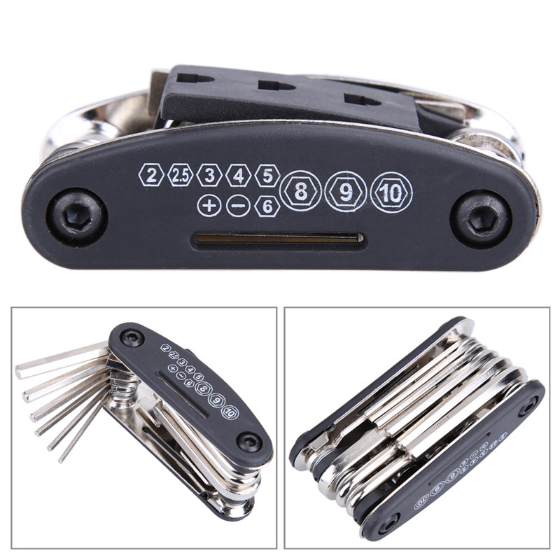15 in 1 Bicycle Multi Repair Tool Set with Wrench, Screwdriver and Bicycle Accessories
