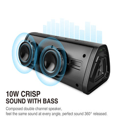 10W Portable Wireless Loudspeaker Waterproof Outdoor Bluetooth Sound System