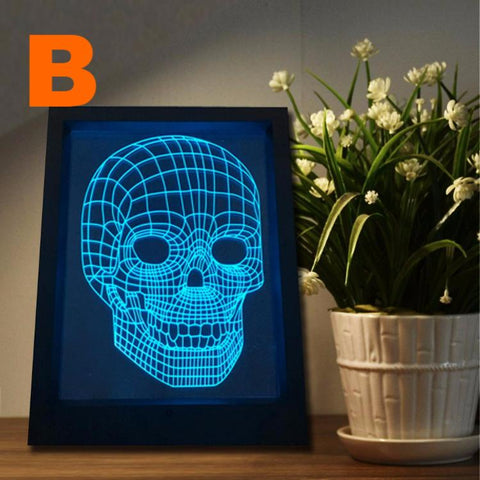 Skull shape night light 2017