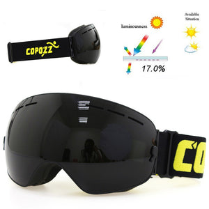 Double Layered UV400 Anti-Fog Professional Unisex Ski Mask Glasses