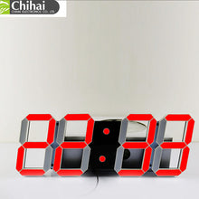 Large Digital 3D LED Wall Clock with Modern Design for Home Decor