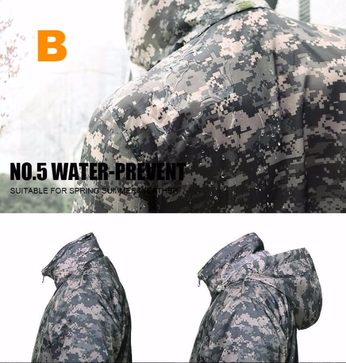 Camouflage Skin Thin UV-proof Outdoor Hiking Jacket