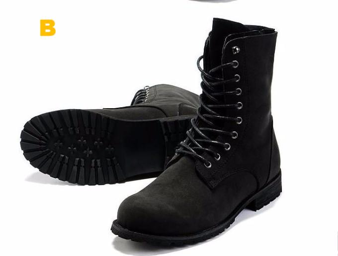 Retro High Top Combat Boots