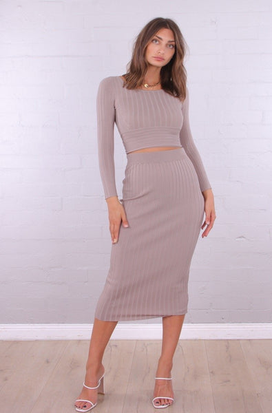 Bibi Knit Midi Skirt