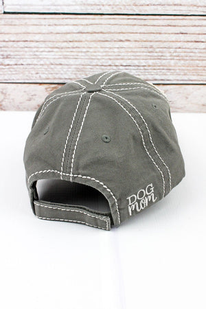 Dog Mom Distressed Hat