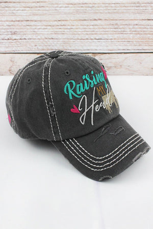 Raising My Herd Distressed Hat