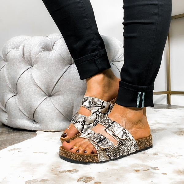 Wild About You Sandals - Snake