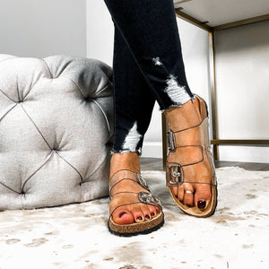 Slide My Way Sandals- Clear
