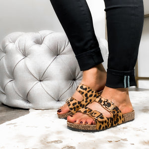 Wild About You Sandals - Leopard