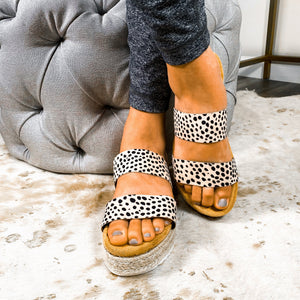 Just My Style Sandal- Cheetah