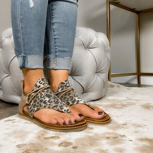 The Sparta Gladiator Leopard Sandal