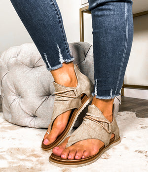 The Sparta Gladiator Sandal- Coffee