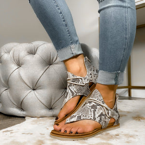 The Sparta Gladiator Snakeskin Sandal