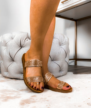 Ready To Go Shopping Sandals - Rose Gold