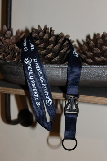 Tag Along Hassle-Free Lanyard: Navy