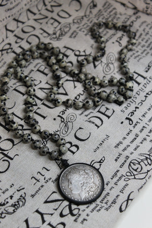 Coin Toss Bead Necklace