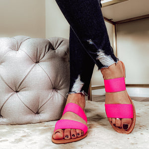 The Sweetest Thang Hot Pink Strap Sandals