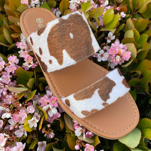 A Day At The Beach Sandal- Cow