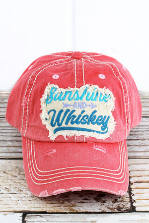 Distressed Salmon 'Sunshine And Whiskey' Hat