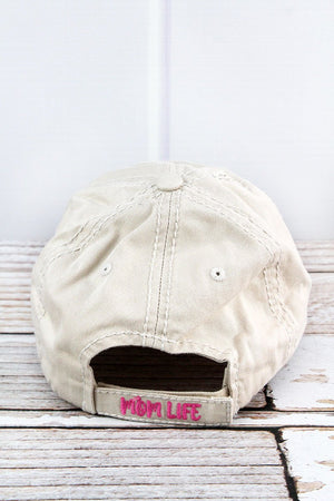 Distressed Stone 'Thou Shalt Not Try Me Mom 24:7' Hat