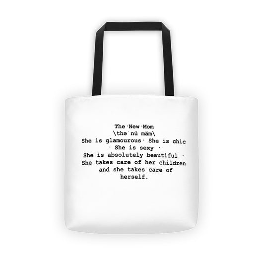 New Mom Definition Tote - WHITE