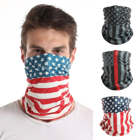 Independent Day Adult Sun Uv Protection Face Coverage Tube Neck Gaiter  Scarves Neck Cover Lady Scarf Ring Wraps Face Washcloth