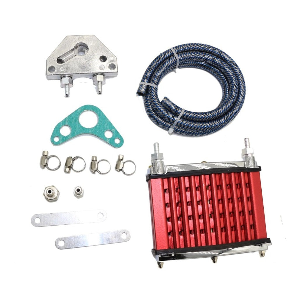 Oil Cooler Cooling Radiator for 50cc 70cc 90cc 110cc 125cc Horizontal Engine Dirt Bike/Pit Bike/Monkey Bike Hot