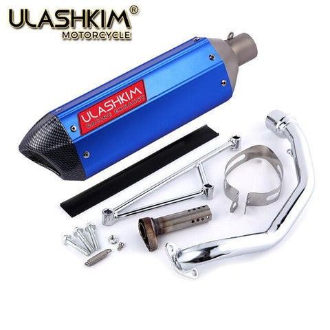 Motorcycle scooter exhaust muffler Full System  db killer Slip On TARO 125 4 stroke GY6 125 GY6 150 152QMI 157QMJ 1P52QMI