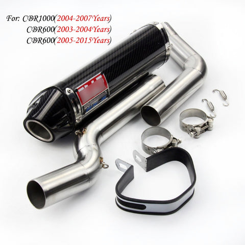 For HONDA CBR600RR F5 2003-2015 CBR1000RR 2004-2007 Motorcycle Yoshimura Exhaust Escape MO Modified Mid Link Pipe Carbon Muffler