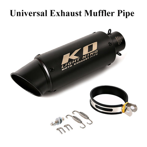 300mm Universal 38-61mm Exhaust System Pipe Motorcycle Exhaust Muffler Pipe Bike Tip Muffler For CBR500R CB300R R6 R23 GSXR 1000