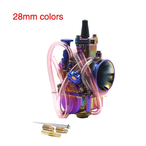 ZSDTRP Colorful PWK Carburetor Motorcycle 4T Engine Scooters Dirt Bike ATV 21 24 26 28 30 32 34mm with Power Jet Racing Moto