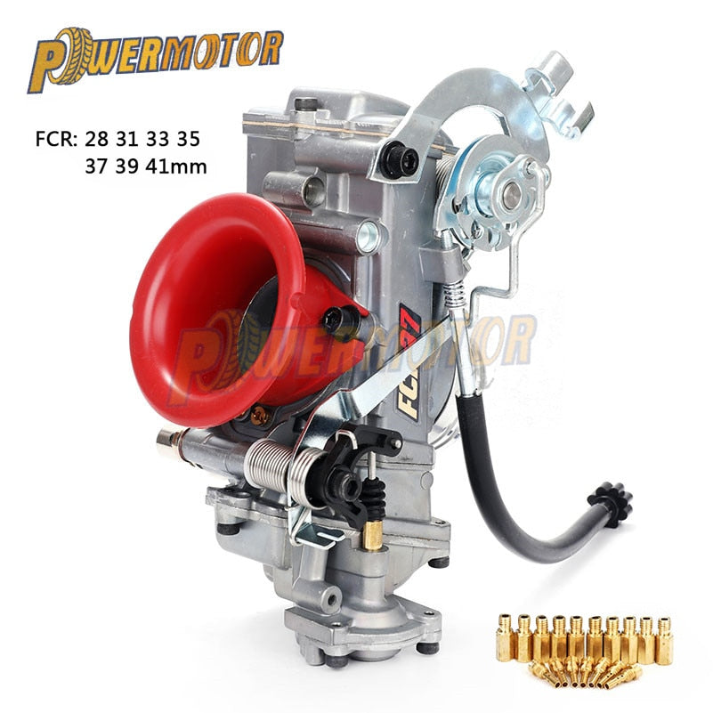Powermotor FCR28 31 33 35 37 39 41mm FCR39 CRF Slant Side Carburettor For CRF450/650 Husqvarna450 KTM