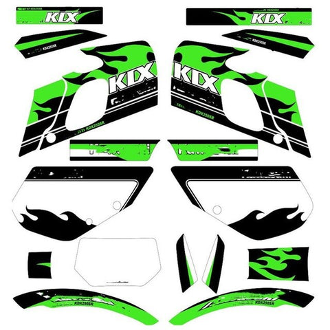 Motorcycle Dirt Bike Team Graphics Backgrounds 3M Stickers Decals Kits For Kawasaki kdx250SR kdx 250sr kdx250 sr 250sr kdx