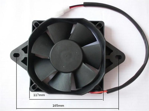NEW 12V fan RADIATOR COOLPNG COOLER for Quad 4x4 ATV motorcycle dirt pit bike 200cc 250cc Water cooled engine
