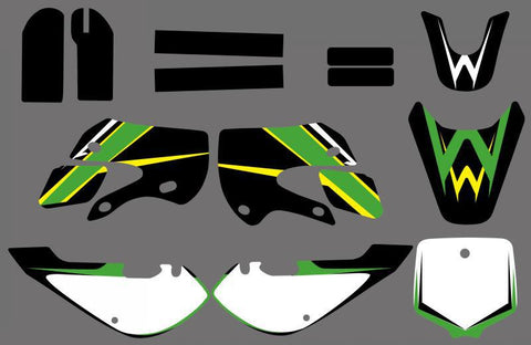 TEAM GRAPHICS & DECALS STICKERS Kits for KLX110 2002 03 04 05 06 07 08 2009 KX65 2000-2013