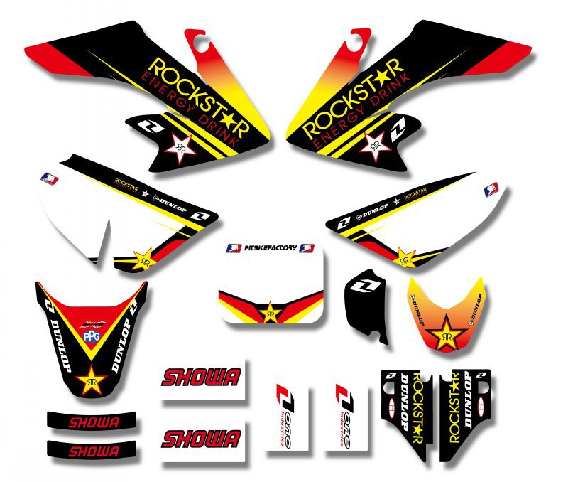 H2CNC GRAPHICS & BACKGROUND DECAL STICKER Kits For Honda CRF50 CRF50F 2004 - 2012 2006 2008 2010 2011 Pit Dirt bike CRF 50 50F