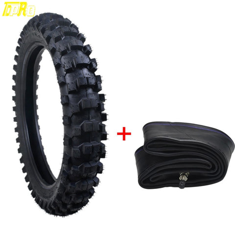 "TDPRO 90/100-16"" Tyre Tire+Tube 16 inch Tire Inner Tube for Motorcycle  Motocross MX Pit Trail Dirt Bike Off Road ATV Parts 4PR"