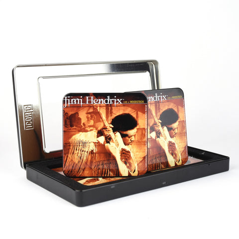 Live at Woodstock 6 Piece Metal Coaster Set