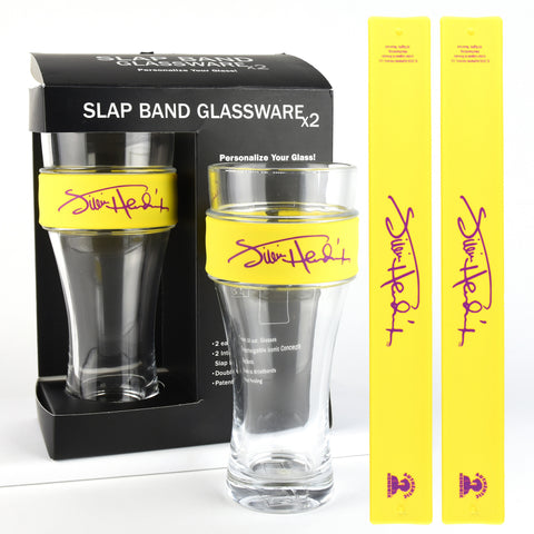 Slap Band Signature Logo Glassware Yellow (2 Pack)