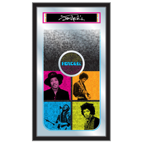 Jimi Hendrix (4 Square Design) Mirror